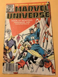 The Official Handbook of the Marvel Universe #15 : 5/84 Gd/VG; Weapons, Moon Knt