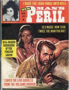 Man's Peril Magazine March 1964-BILL WARD-NINA MORINI-WW2 VG