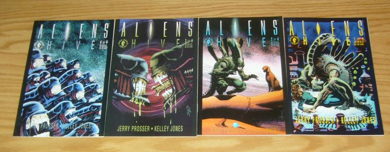 Aliens: Hive #1-4 VF/NM complete series - dark horse comics - kelley jones 2 3