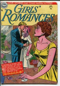 GIRLS' ROMANCES #24 1953-DC-LOVE TRIANGLE-RARE ISSUE-vg