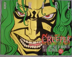 BEWARE the CREEPER Promo poster, 22x17, 1997, Unused, more Promos in store