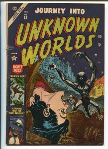 Journey Into Unknown Worlds #23 1953-Atlas-pre-code horror-Gene Colan-VG