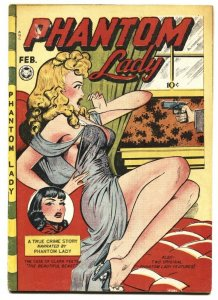 Phantom Lady #16 Fox Matt Baker Golden Age Spicy Good Girl Art