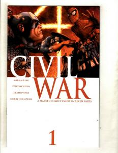 Civil War Complete Marvel Comics LTD Series # 1 2 3 4 5 6 7 NM 1st Prints SM8