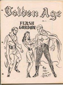Golden Age #1 1965-SFCA-1st issue-original file copy-never stapled-G.B. Love-...