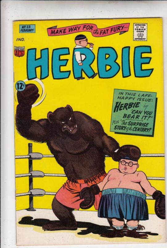 Herbie #23 (Feb-67) FN/VF Mid-High-Grade Herbie Popnecker
