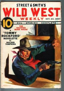 WILD WEST WEEKLY-10/23/1937-PULP-TOMMY ROCKFORD-HAUNTED BUNK HOUSE! VF