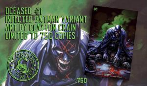 DCeased #1 Clayton Crain Infected Batman Variant w/ COA