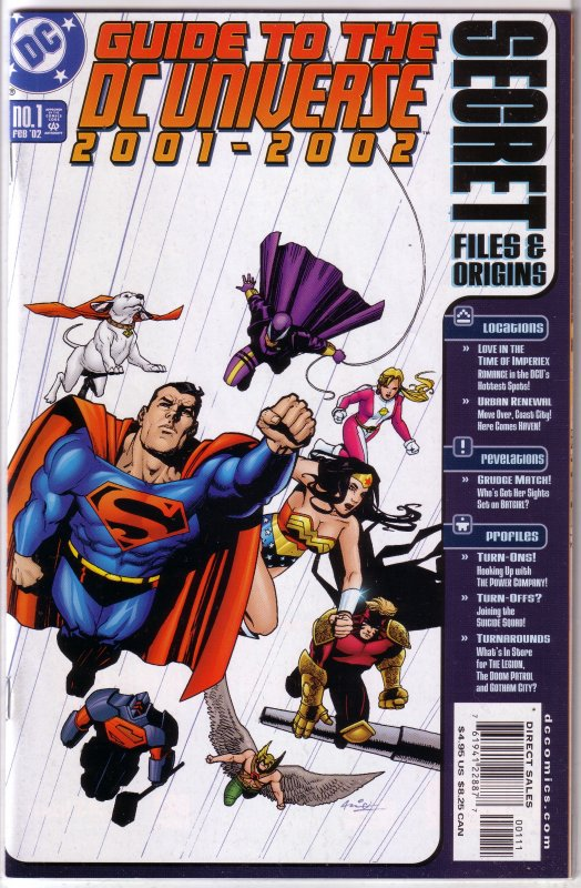 Secret Files and Origins: Guide to the DC Universe 2001-2002 #1 FN/VF Olivetti
