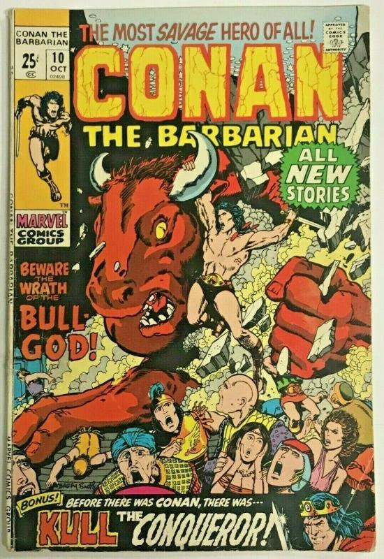 CONAN THE BARBARIAN#10 VG/FN 1971 MARVEL BRONZE AGE COMICS