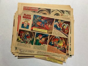 Flash Gordon Complete Year 1951 Tabloid Size Color Newspaper Sundays