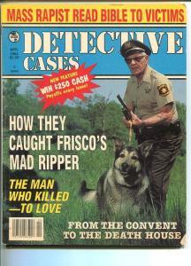 DETECTIVE CASES-APR 1984-G/VG-HARD BOILED-SPICY-MURDER-RAPE-BLUDGEONING G/VG
