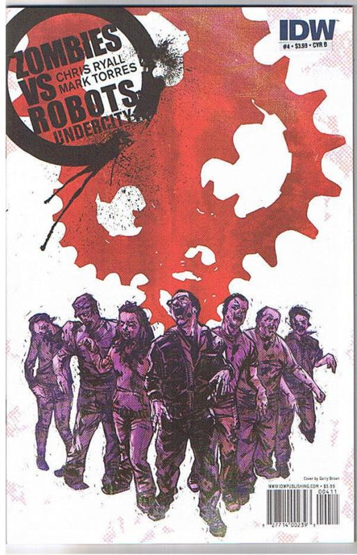 ZOMBIES vs ROBOTS UNDERCITY #4 B, NM+, 2011, IDW, Undead, more Horror in store