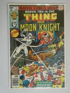 Marvel Two-in-One #52 Thing and Moon Knight 7.5 VF- (1979 1st Series)