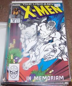 UNCANNY X-MEN #228  IN MEMORIUM- THE X MEN DEAD ? WOLVERINE