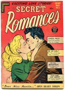 SECRET ROMANCES #2 1951-SPICY EMBRACE COVER-GIRL FIGHT  VG