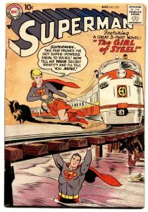 Superman #123 comic book 1958- 1st Supergirl- DC Silver Age