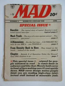 MAD #12 (EC, 6/1954)  POOR (PR) book is trimmed. Will Elder's Starchie! Kurtzman