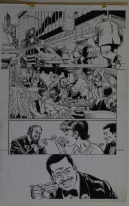 DICK GIORDANO / MIKE DeCARLO original art, SLIDERS Armada #2 pg 22,11x17, Eating