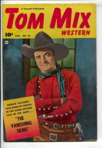 Tom Mix Western #44 1951-Fawcett-Photo cover -Carl Pfeufer story art-FN-