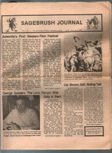 -Sagebrush Journal #1 5/1986-1st issue-Charles Starrett-Durango Kid-FN