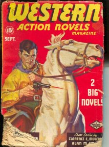 Western Action Novels 9/1936-Double Action-Hopalong Cassidy cameo-Clarence E ...