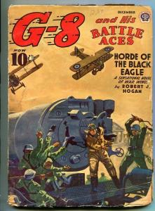 G-8 AND HIS BATTLE ACES 12/1941-WEIRD MENACE-HORROR-WAR-BLACK EAGLE-good