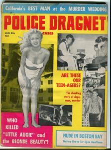 POLICE DRAGNET-JAN/1960-BLONDE BEAUTY-MURDER WEDDING-MURDEROUS TEEN-AGERS FR/G