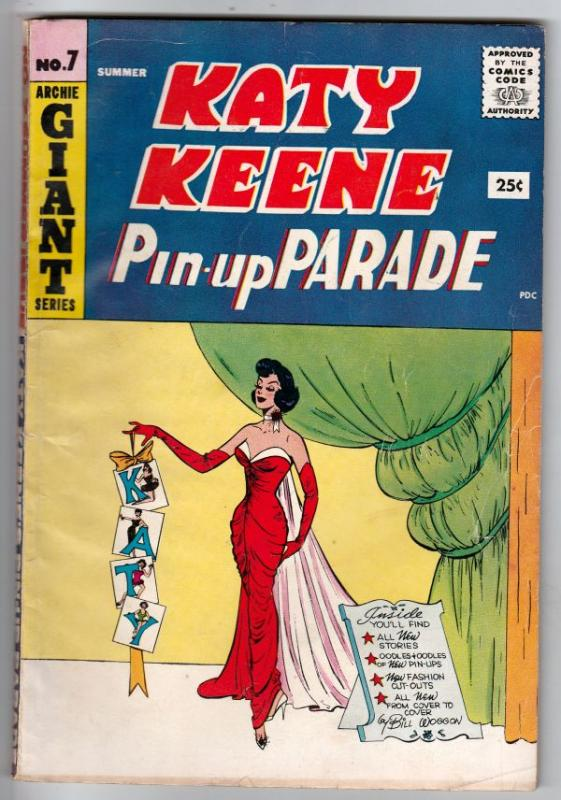 Katy Keene Pin-up Parade #7 (Jul-59) FN Mid-Grade Katy Keene