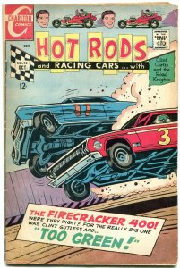 Hot Rods and Racing Cars #92 1968- Firecracker 400- Charlton comics VG