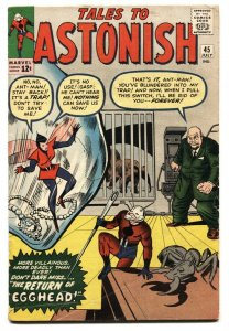 TALES TO ASTONISH #45 Second appearance of WASP - comic book