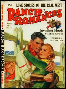 PULP PROOF RANCH ROMANCES 07/39 ART LAWSON ESTATE