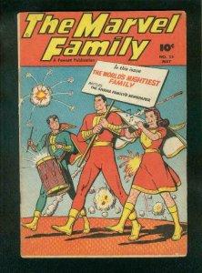 MARVEL FAMILY #23 1948-CAPTAIN MARVELMARY MARVEL-FAWCETT-vg+ VG+