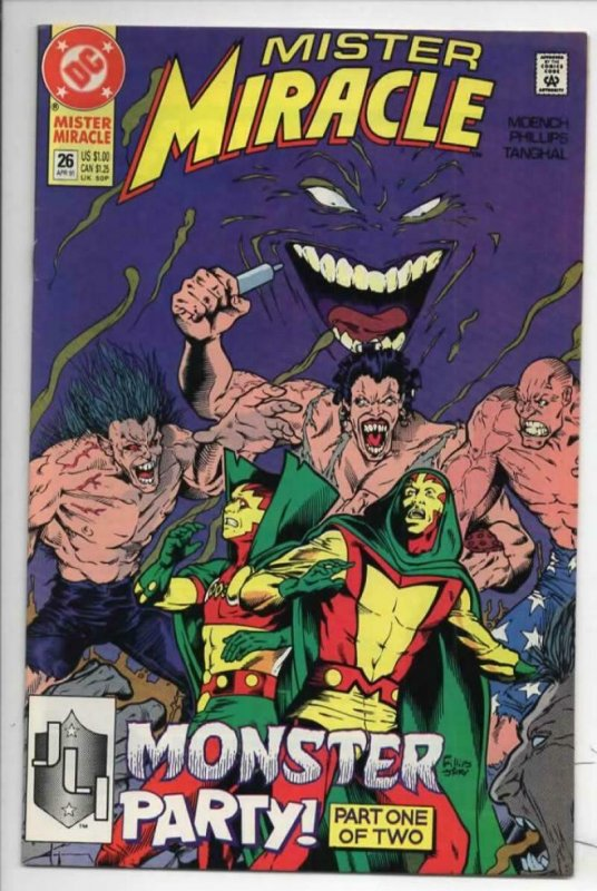 MISTER MIRACLE #25 26 VF Big Barda 1989 1990 1991 more DC in store 2 issues