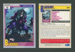 1991 Marvel Comics II  Card  #82 ( Blackout )  MINT