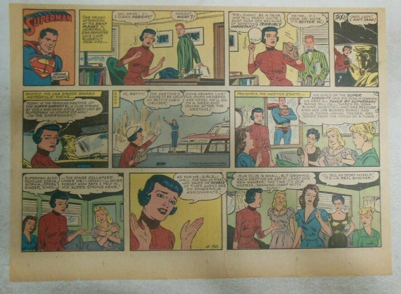Superman Sunday Page #1124 by Wayne Boring from 4/30/1961 Size ~11 x 15 inches