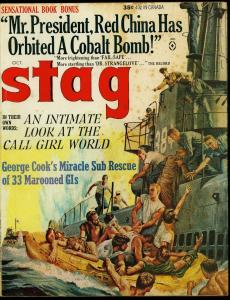 Stag Pulp Magazine October 1964- Cobalt Bomb- Call Girls VG