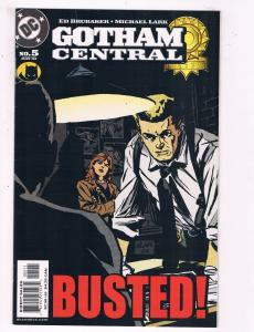 Gotham Central #5 VF DC Busted Comic Book Brubaker Gordon Batman 2003 DE6