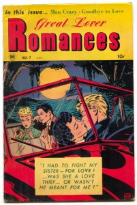 Great Lover Romances #7 1954-Convertible Make Out cover FN-