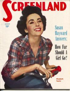ScreenLand-Elizabeth Taylor-Susan Hayward-John Derek-Aug-1950