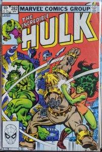 The Incredible Hulk #282 (1983) CORNER SMALL BEND. STILL VF