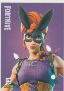 Fortnite Bunnymoon 121 Uncommon Outfit Panini 2019 trading card series 1