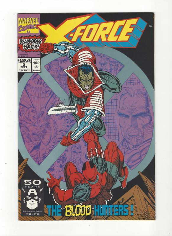 X-Force #2 2nd App Deadpool NM