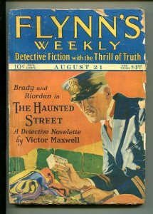 FLYNN'S WEEKLY DETECTIVE FICTION-AUG 21 1926-PULP-MYSTERY-MAXWELL-good
