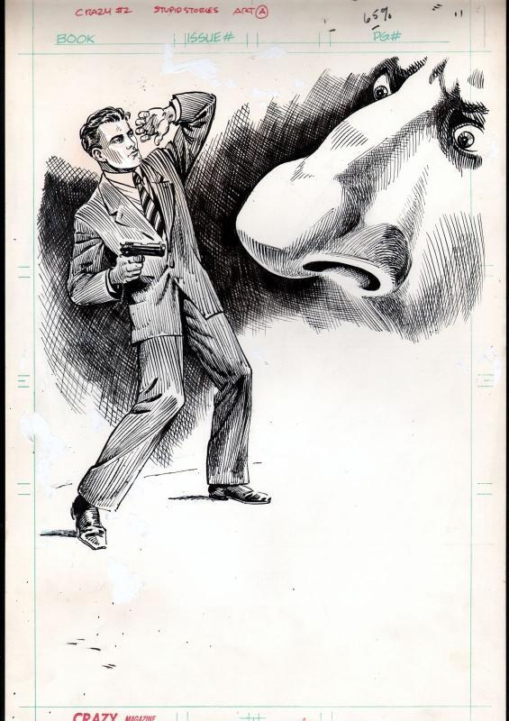 Crazy Magazine #12 Page 42 Original Art- MARIE SEVERIN-STUPID STORIES