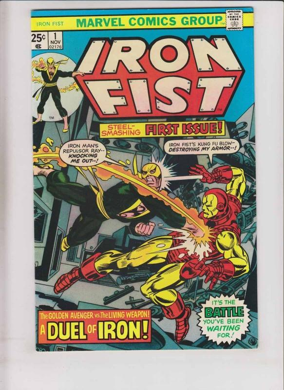 Iron Fist #1 VF- chris claremont - john byrne - iron man - kung fu marvel 1975