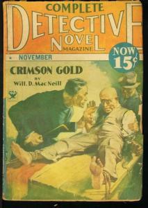 COMPLETE DETECTIVE NOVEL 1934 NOV-VIOLENT COVER G