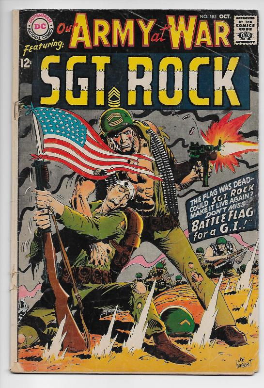 Our Army at War #185 - Sgt Rock / Joe Kubert (DC, 1967) - GD/VG