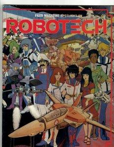 Files Magazine Spotlight On Robotech M-1 1986 Cartoon Files Mag Comic Book J510