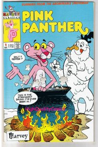 PINK PANTHER #1, NM, Harvey, Cartoon Character, Yeti, 1993, , more in store